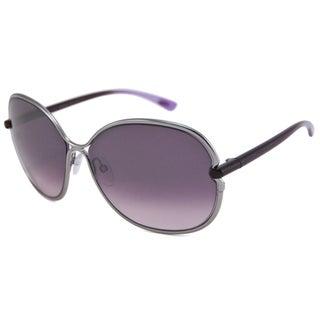 Tom Ford Women's TF0222 Leila Plastic Rectangular Sunglasses