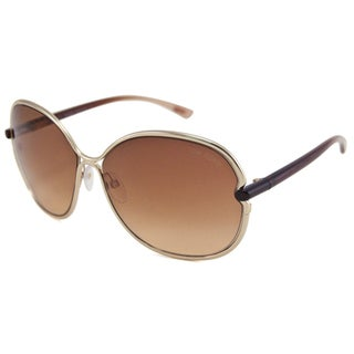 Tom Ford Women's TF0222 Leila Rectangular Sunglasses