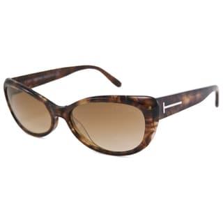 Tom Ford Women's Tortoise TF0232 Sebastian Cat-Eye Sunglasses