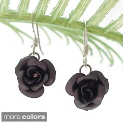 Blooming Roses .925 Sterling Silver Dangle Earrings (Thailand)