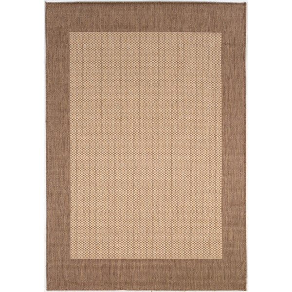 Recife Checkered Natural/ Cocoa Rug (2' x 3'7)