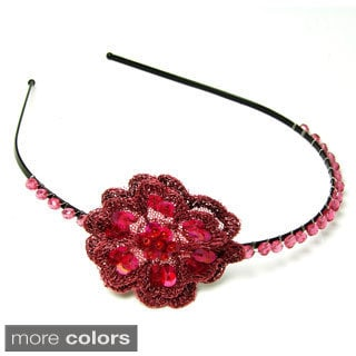 Handmade Sequin Flower Headband (India)
