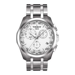 Tissot Men's 'Couturier' GMT Stainless Steel Trend Watch