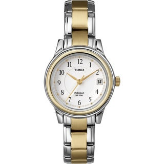 Timex Women's Elevated Classics Dress Two-tone Steel Bracelet Watch