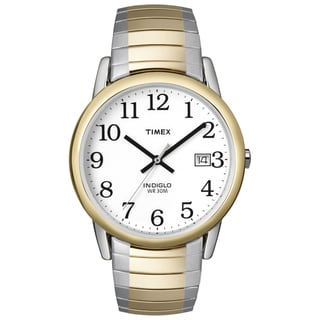 Timex Men's Easy Reader Two-tone Steel Expansion Band Watch