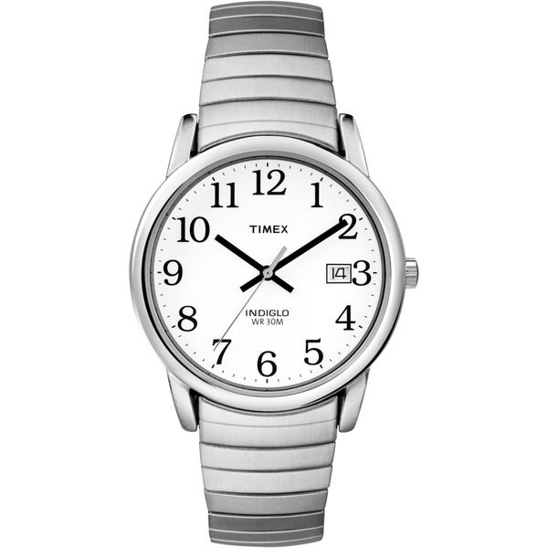 Timex T2H4519J Men's Easy Reader Silvertone Expansion Band Watch 10651491