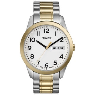 Timex T2N0639J Men's Elevated Classics Dress Two-tone Steel Expansion Band Watch