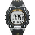 Timex Men's Ironman Traditional 100-Lap Black/ Silvertone/ Yellow Watch