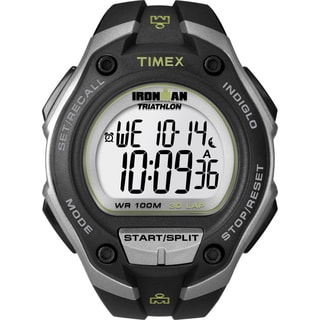 Timex Men&#39;s Ironman Traditional 30-Lap Mega Black/ Silvertone Watch