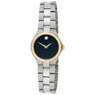 Movado Women's Stainless Steel Goldtone Bezel Watch