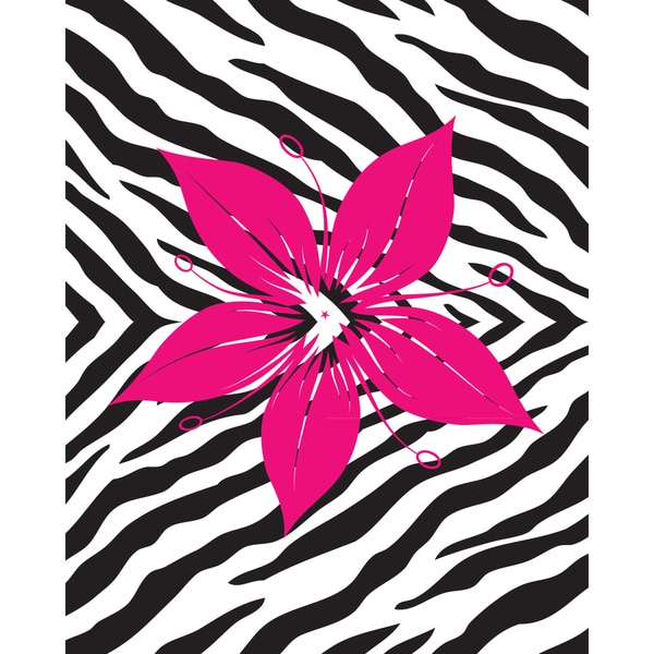 Flower with Zebra Print Art Print