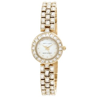 Anne Klein Women's Two-tone Mother-Of-Pearl Dial Crystal-accented Watch