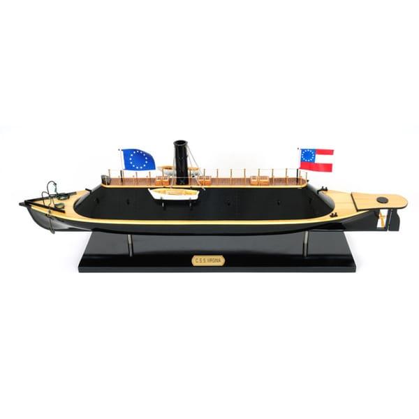 Old Modern Handicrafts C.S.S. Virginia Ironclad Warship Model