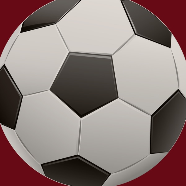 Single Soccer Ball Art Print