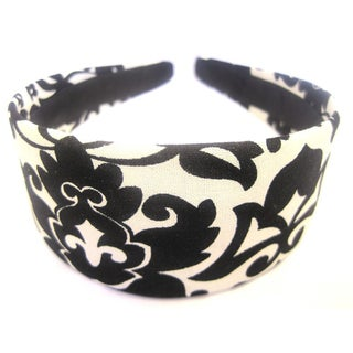 Black and Cream Floral Headband