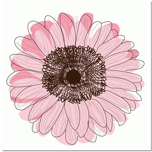 Single Flower- Light Pink Art Print