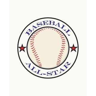 All Star Baseball Art Print
