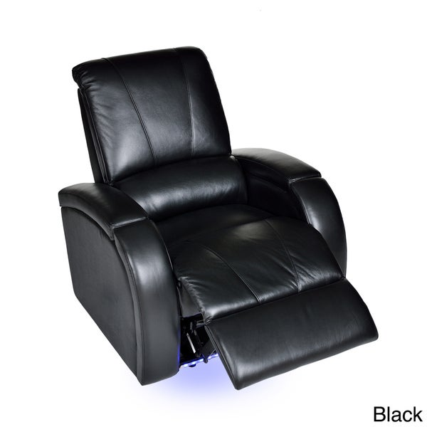 monte carlo leather power recliner 15126345 shopping
