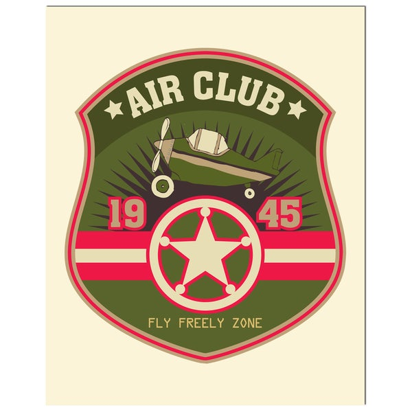 Pilot Badge Art Print