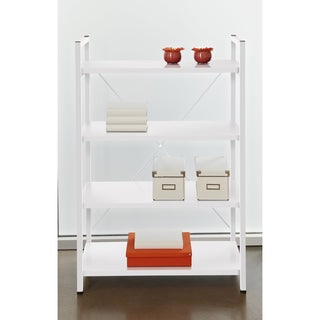 Tribeca White 4-shelf Bookcase
