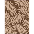 Woven Indoor/ Outdoor Captiva Brown/ Beige Patio Rug (1'10 x 2'11)
