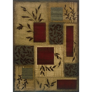 Indoor Beige/ Red Area Rug (9'10 x 12'9)