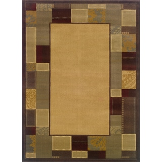 Indoor Beige/ Brown Area Rug (9'10 x 12'9)