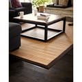 Natural Bamboo Rug with Brown Border (6' x 9')