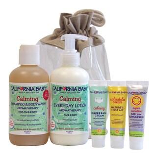 California Baby Calming Newborn Tote 5-piece Gift Set