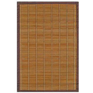 Zenith Bamboo Rug with Brown Border (6' x 9')