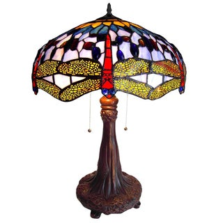 Tiffany Style Dragonfly 2-light Table Lamp