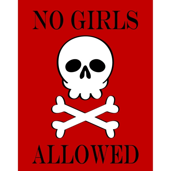 No Girls Allowed Art Print