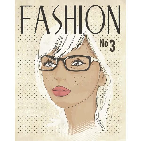 Fashion Page Art Print