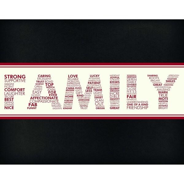 Words of Family Art Print