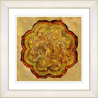 Studio Works Modern 'Platos - Gold' Framed Print