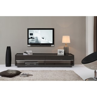Modena Grey/ black 2-drawer Modern TV Stand