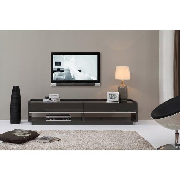 Modena Grey/ black 2-drawer Modern TV Stand