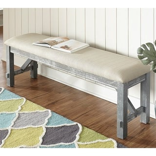 Powell Turino Grey Oak Finish Dining Bench