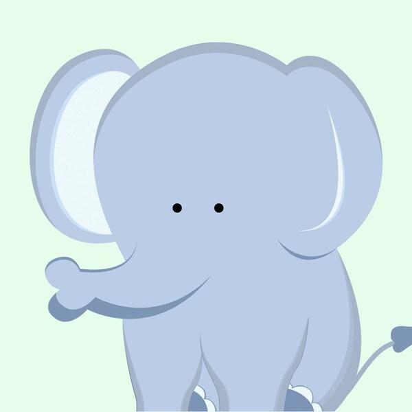 Single Elephant Art Print
