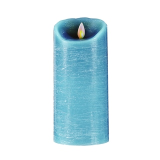Forever Flame Blue Distressed Finish Flameless Candle
