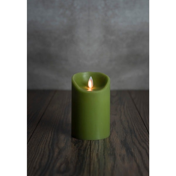 MYSTIQUE FLAMELESS CANDLE GREEN SMOOTH