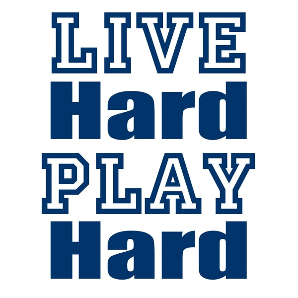 Live Hard Play Hard Art Print