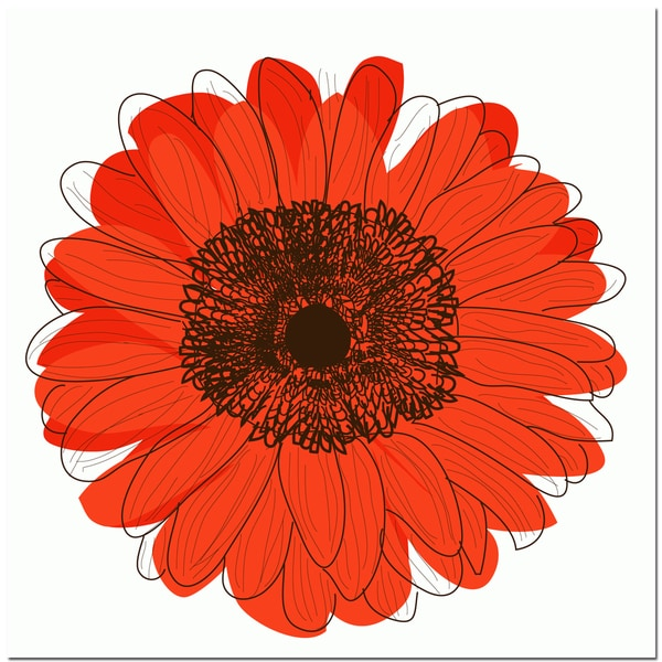 Single Flower- Orange Art Print