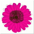 Single Flower- Hot Pink Art Print