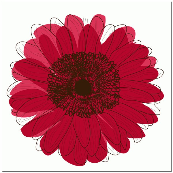 Single Flower- Red Art Print