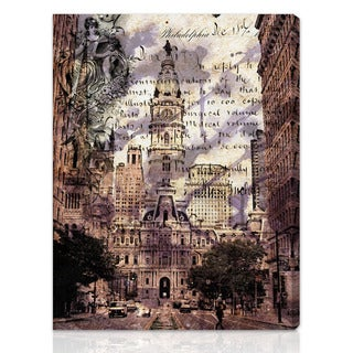 Oliver Gal Artist Co. 'Philadelphia Town Hall' Gallery-wrapped Canvas Art