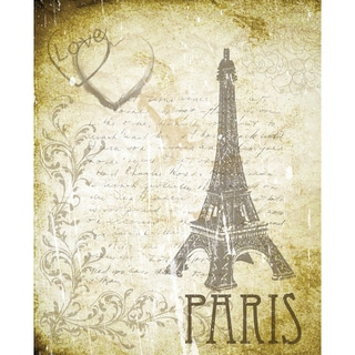 Secretly Designed 'Love Paris' Unframed Art Print