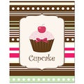 Secretly Designed 'Sweet! Cupcake!' Unframed Art Print