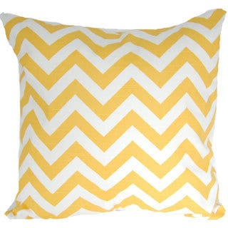 Taylor Marie Corn Yellow Zig Zag Chevron 18x18-inch Throw Pillow Cover