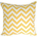 Corn Yellow Designer Zig Zag Chevron Throw Pillow Cover